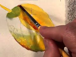 how to paint leaves in watercolor watercolor dvd preview youtube