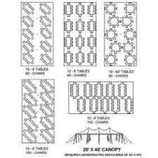 table seating for 20 20 x 40 frame tent table chair layout bat mitzvah pinterest