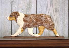 australian shepherd figurine sign plaque display wall
