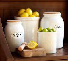 pottery canisters kitchen canister pottery barn