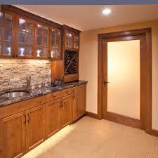 Wet Kitchen Cabinet Furniture Appealing Wet Bar Cabinets With Floating Glass Shelves