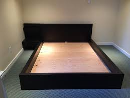 sideboard malm king bed with floating nightstands ikea hackers