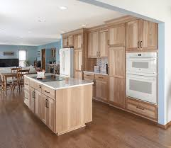 hickory grey stained kitchen cabinets hickory kitchen remodel in arlington heights