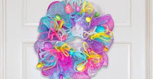mesh wreaths egg ceptionally easy easter deco mesh wreath the dollar tree