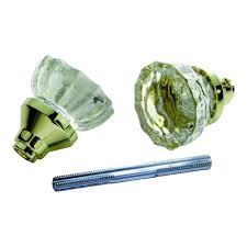 first watch security polished brass glass knob set with spindle