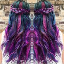 mermaid hair with braids by hailey mahone balayage ombré purple