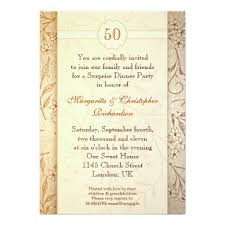 50 year wedding anniversary 50 golden wedding anniversary invitation card