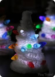 small light up christmas tree light up pipe cleaner christmas trees for small worlds
