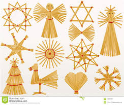 straw decorations stock vector image 47233761