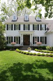 colonial house white colonial house traditional exterior chicago by