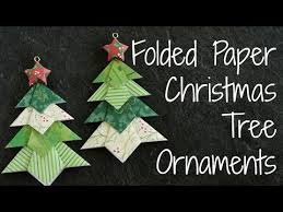 folded paper christmas tree ornaments diy origami ornament youtube