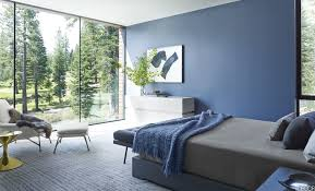 bedroom best blue bedrooms with blue paint wall and mid century