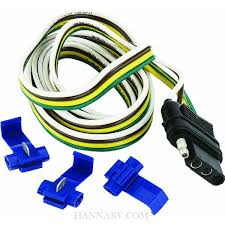 hopkins 48025 4 wire flat tow vehicle connector kit mfg 48025