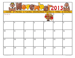 29 images of november 2013 monthly calendar template infovia net