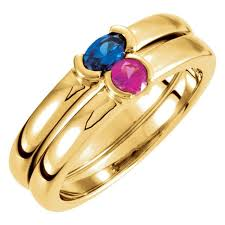 stackable mothers rings gold 1 oval stackable s ring