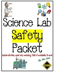 science lab safety writing prompt worksheets