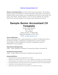 Example Accounting Resume accountant resume format for experienced accountant