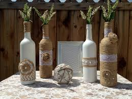 wine bottle wedding centerpieces wedding centerpieces vases shabby chic wedding rustic