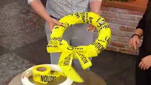 how to make a halloween wreath out of caution tape sun sentinel