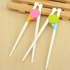 1 pair chopsticks baby feed colorful children funny lovely