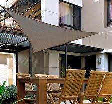 Triangular Patio Awnings Outsunny Triangle Outdoor Patio Sun Shade Sail Canopy 18ft Light