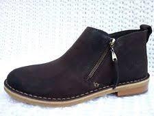 s ugg australia brown emalie boots ugg australia s zip ankle boots ebay