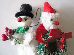 how to make vintage chenille stem santas and snowmen belznickle