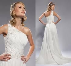 one shoulder wedding dresses discount vintage 2015 one shoulder wedding dresses a line