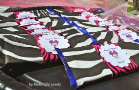 Pink And Black Minnie Mouse Decorations Inexpensive Party Decorating Make Life Lovely