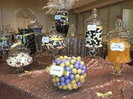 purple u0026 gold wedding candy buffet great service fresh candy in