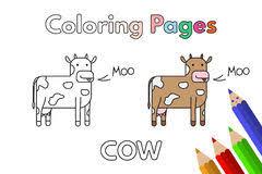 cartoon farm color book children vector stock vector image 60928237