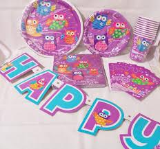 birthday supplies 6 set of owl party supplies birthday by sparkleandcomfort