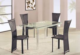 Rectangle Glass Dining Room Tables Charming High Class Rectangular Glass Top Dining Furniture Set