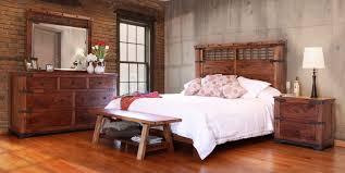 Rustic Wood Bedroom Furniture - parota solid wood bedroom group southern creek rustic furnishings