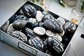 wishing stones wedding wishing guest book alternative 100 set