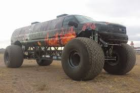 old monster truck videos sin city hustler combines excursion limo monster truck