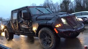 blue camo jeep 2019 jeep scrambler pickup spied on the move