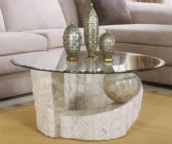 Stone Home Decor Magnificent Stone And Glass Coffee Tables About Home Decor Ideas