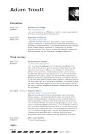 Production Resume Examples by Police Officer Resume Samples Visualcv Resume Samples Database