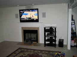 television over fireplace 5 1 home theater subwoofer tv over fireplace wires hidden home