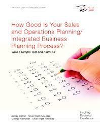 integrated business planning advanced sales and operations planning