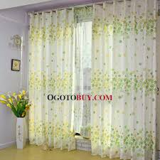 Where To Buy White Curtains Stylish Green And White Curtains And Green Leaf White Waterproof