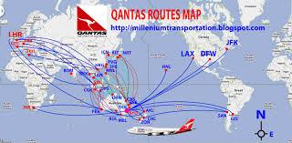 Airline Route Maps by Santiago Sydney Flight