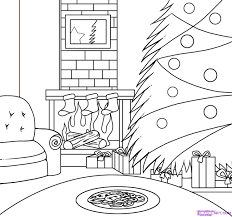 christmas scene drawing google search christmas pinterest