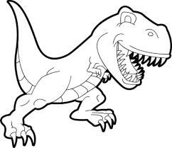 simple t rex drawing cute dinosaur my coloring land drawing art
