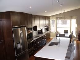 astounding one wall kitchen with island designs 74 on kitchen