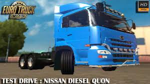 nissan blue truck test drive nissan diesel quon euro truck simulator 2 1 27