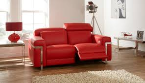 Red Recliner Sofa Sisi Italia Bocelli 2 Seater Power Recliner Leather Sofa House