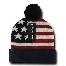American Flag Skull Decky Kristen W New York Beanie Ski Skull Cap Cuffed Un Cuffed Grey