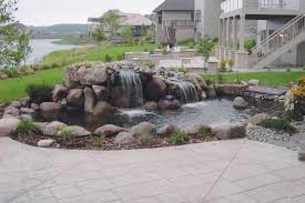 Backyard Pond Ideas With Waterfall Outdoor And Patio Backyard Pond Ideas Mixed With Wonderful